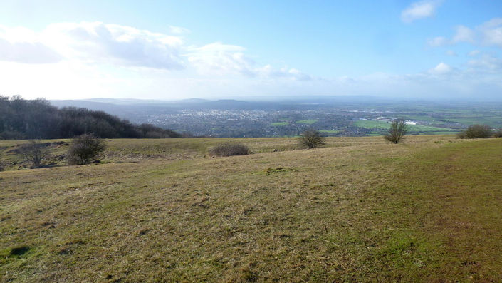 View Over Cheltenham Racecourse from Cleeve Common