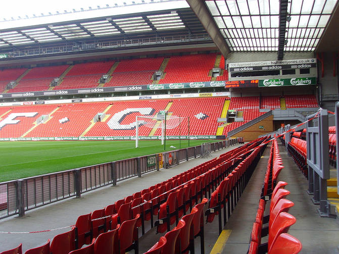 Anfield Football Stadium in Liverpool