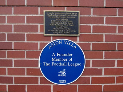 League Founder's Plaque at Villa Park
