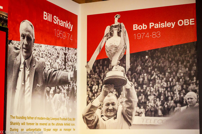 Bill Shankly and Bob Paisley Mural at the Anfield Museum