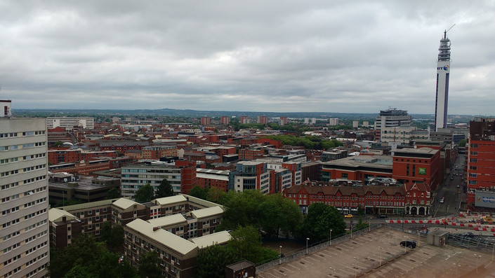 Birmingham City Centre Skyline