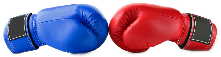 Blue and Red Boxing Gloves