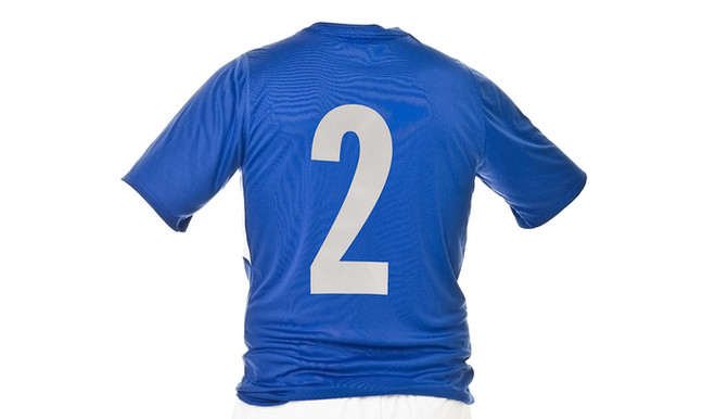 Blue Football Shirt Numbered Two