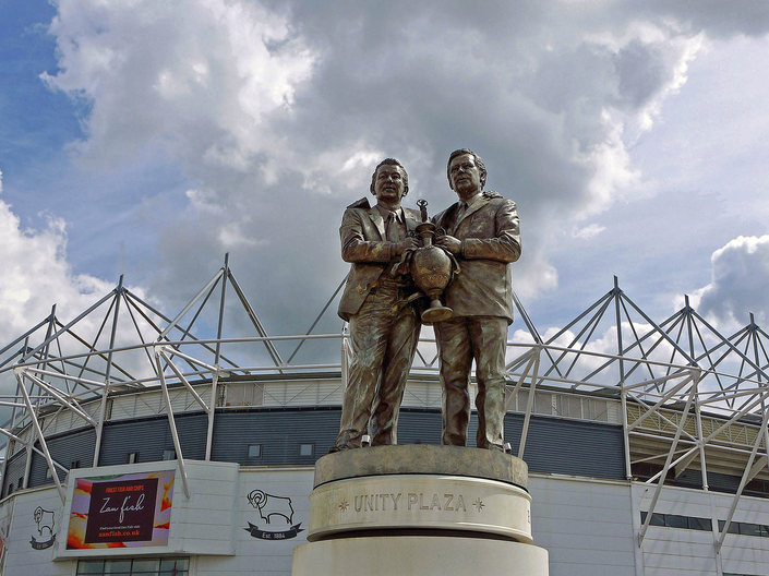 Brian Clough and Peter Taylor Statue at Pride Park
