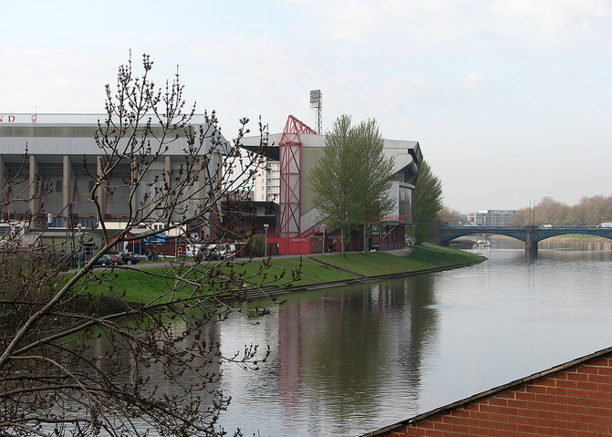 Nottingham Forest's City Ground Across the River Trent
