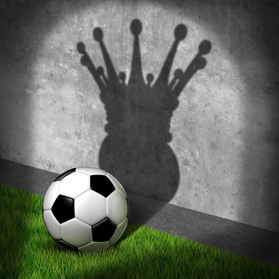 Football with Premier League Trophy Shadow