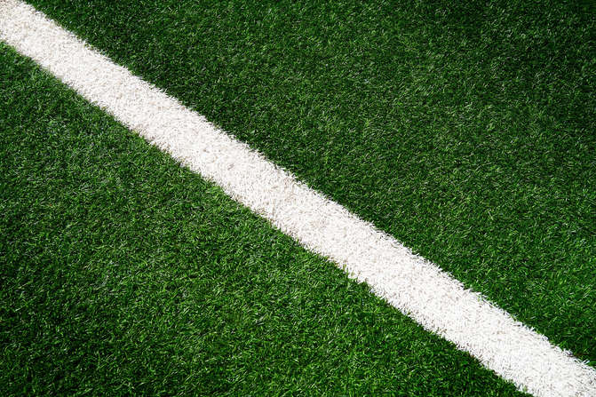 Football Pitch Painted Line