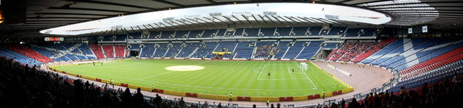 Hampden Park Football Stadium in Glasgow