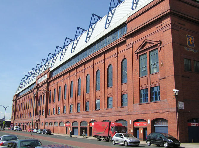 Exterior View of the Main Stand at Ibrox, Glasgow
