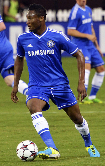 Jon Obi Mikel Playing for Chelsea