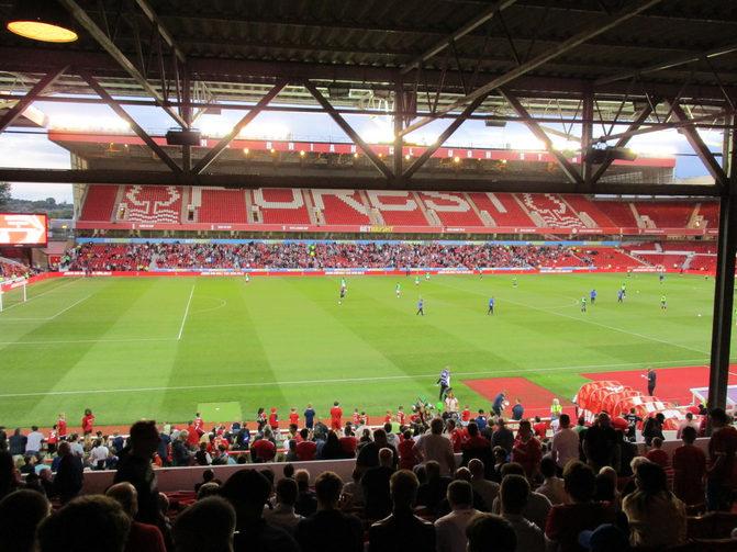City Ground Football Stadium in Nottingham