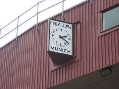 Clock at Old Trafford to Commemorate the Munich Air Disaster