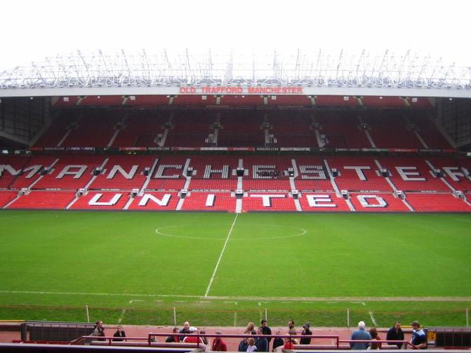 Old Trafford Football Stadium in Manchester