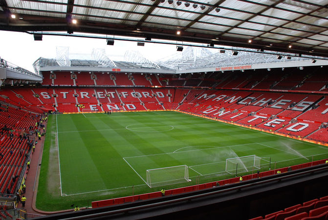 Manchester United's Old Trafford Football Stadium