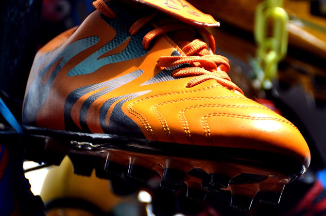 Orange Football Boot