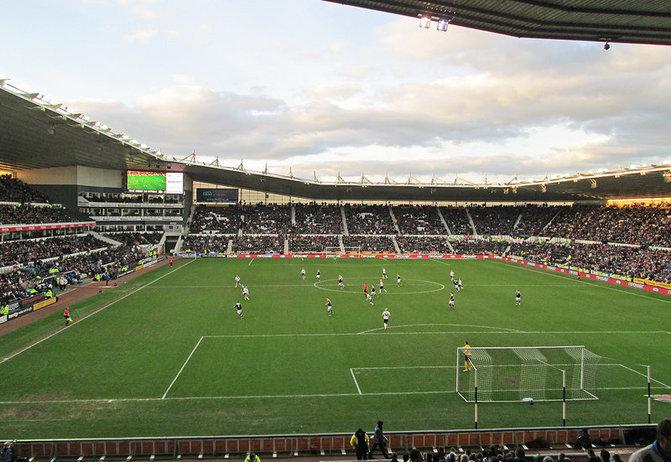 Pride Park Football Stadium in Derby