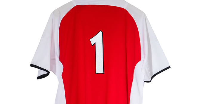 Red Football Shirt Numbered One