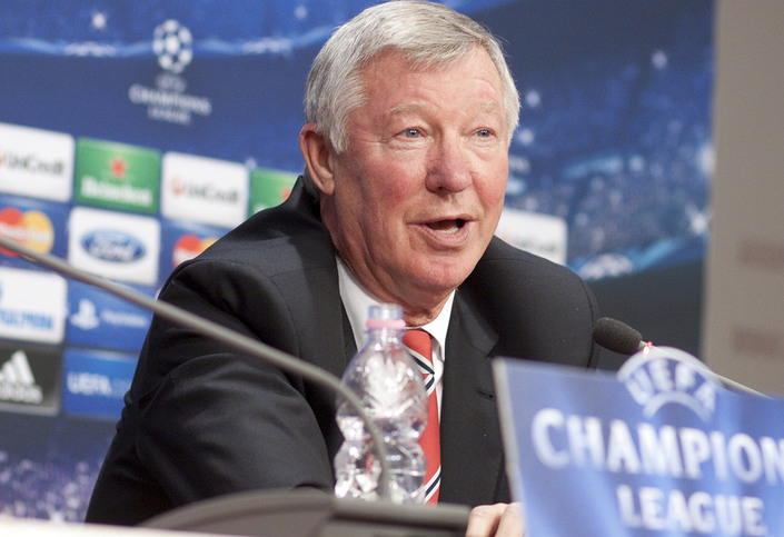Sir Alex Ferguson at Champions League Press Conference
