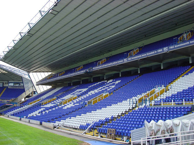 St Andrew's Football Stadium in Birmingham