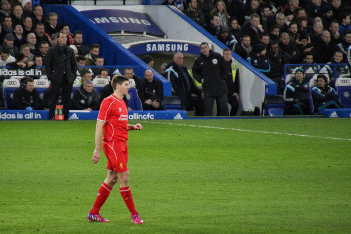 Liverpool Player Steven Gerrard at Stamford Bridge