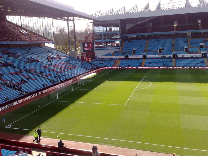 Aston Villa Football Stadium in Birmingham