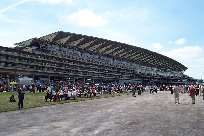 Ascot Grandstand and Crowd