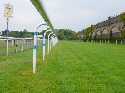 Chester Racecourse with 7 Furlong Marker