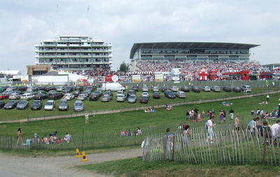 Crowd at Epsom on Derby Day