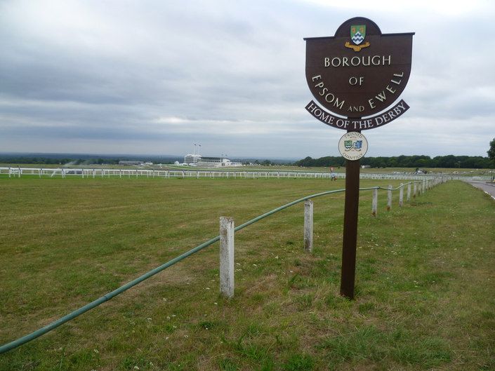 Sign at Epsom Downs Racecourse