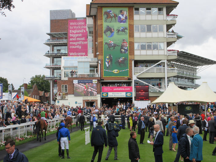 Parade Ring at York Racecourse on the Day of the Ebor Handicap