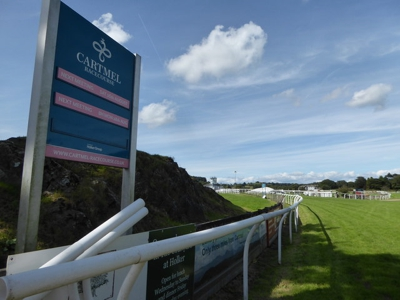 Cartmel Racecourse Sign