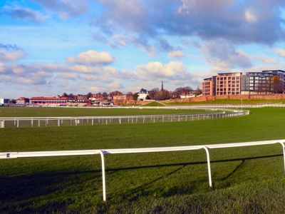 Chester Racecourse, also known as Roodee