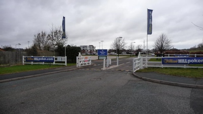 Entrance to Wolverhampton Racecourse