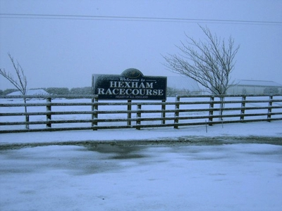 Hexham Racecourse Sign