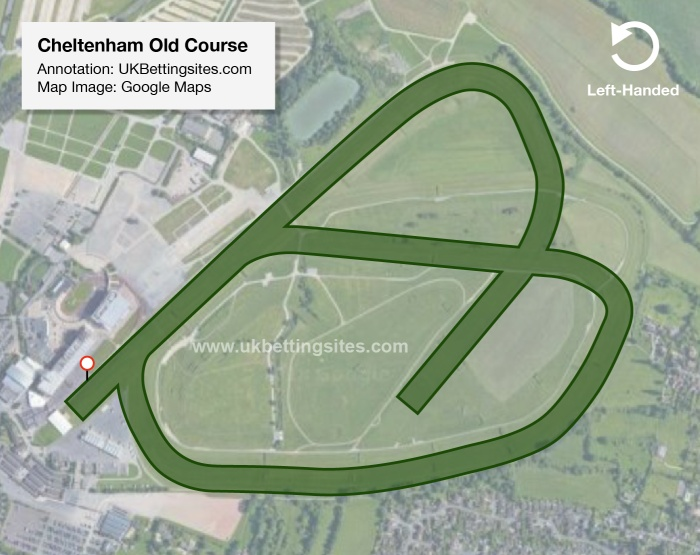 Cheltenham Old Course Map