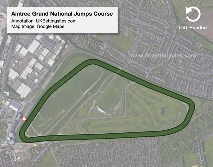 Aintree Jumps Racecourse Map