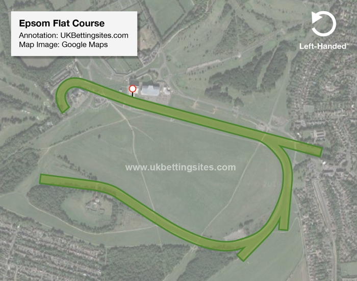 Epsom Flat Racecourse Map