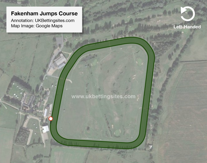 Fakenham Jumps Racecourse Map