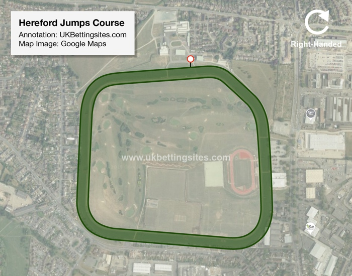 Hereford Jumps Racecourse Map