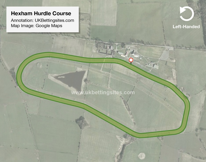 Hexham Hurdle Racecourse Map