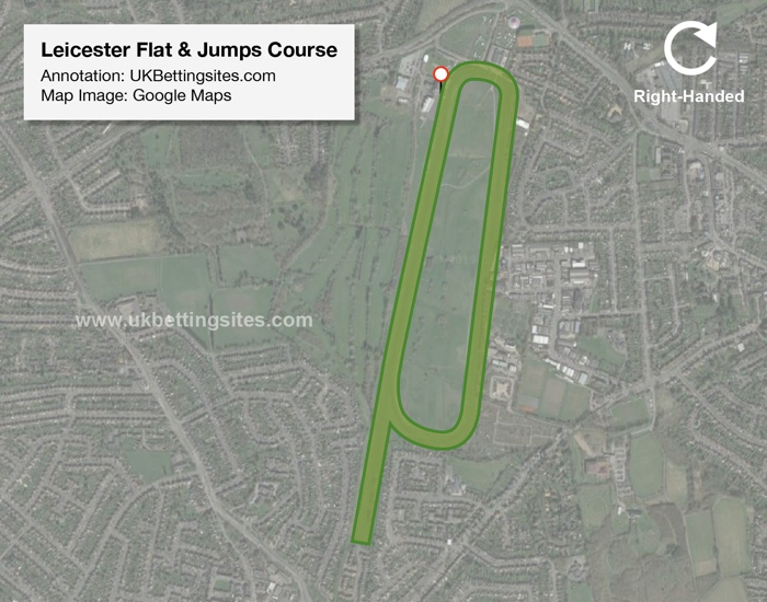 Leicester Racecourse Map Flat & Jumps
