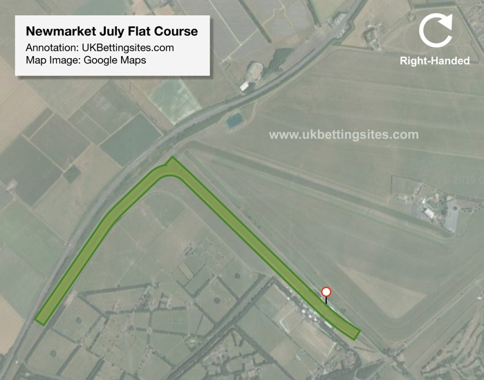 Newmarket Flat July Racecourse Map