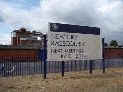 Newbury Racecourse Sign