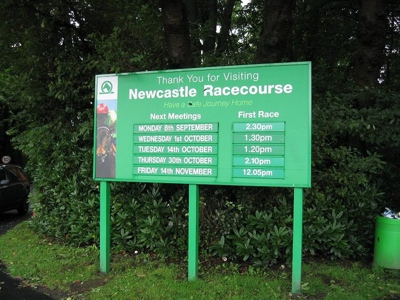 Newcastle Racecourse Sign