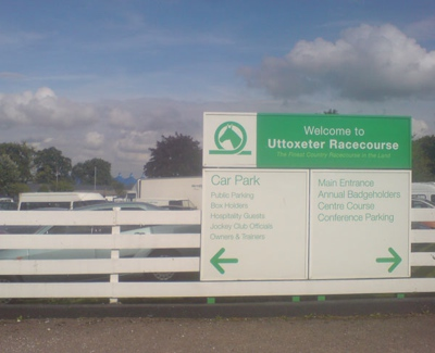Entrance to Uttoxeter Racecourse