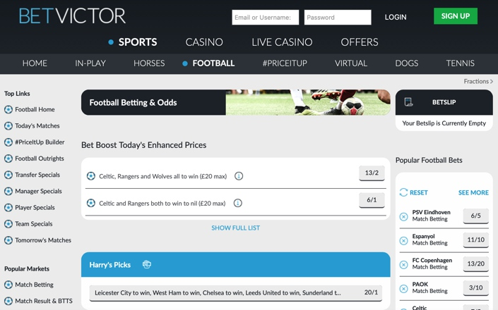 Betvictor football betting rules financial spread betting advice for nfl